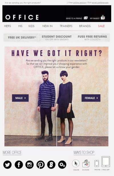 Re-engagement email campaign