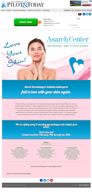 Promotions | Lead Generation | Love Your Skin