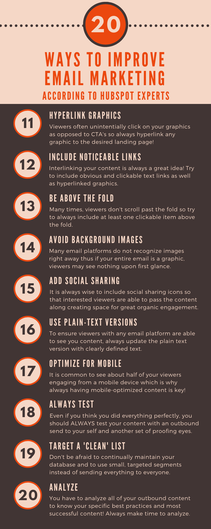 Improving Your Email Marketing with these 20 Tips
