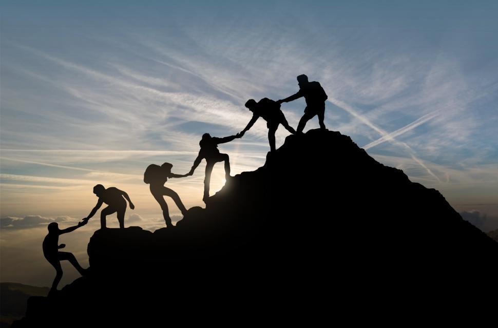 image climbing mountain chart
